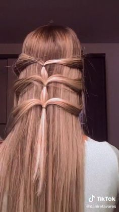 Easy Hairstyles For Long Hair, Up Hairstyles, Braided Hairstyles, Hair Tips Video, Hair Videos, Hair Inspo, Hair Inspiration, Hair Up Styles, Aesthetic Hair