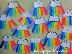 addition or subtraction rainbows. Would change to work for 1st grade. Could be used as a review.