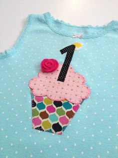 Turquoise cupcake onesie Girl 1st birthday by LovelyLittleBabies, $36.00