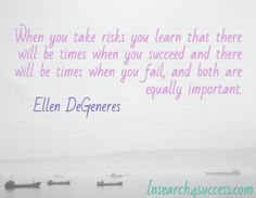 Taking risks is how you move things along. Inspirational Thoughts, Inspiring Quotes, Motivational Quotes, Quotes By Famous People, Quotes To Live By, Life Quotes, Favorite Quotes, Best Quotes, Funny Quotes