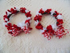 Holiday Candle Wreaths, Christmas Votive Wreaths, Mini Floral Wreaths ...