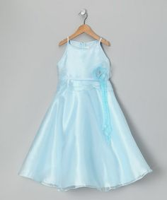 Take a look at this Pastel Blue A-Line Dress - Girls by Cinderella Couture on @zulily today!