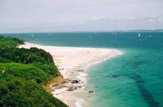 La plage des grands sables. Ile de Groix, Morbihan.