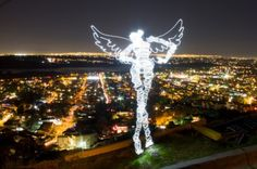Light Painting Artist Darren Pearson, a. Darius Twin, Photos, Bio, and Interview. Light Painting Photography, Photography Lighting, City Of Angels, Light Art, Artist Painting, Painting Prints, Neon Colors, Installation Art, San Diego