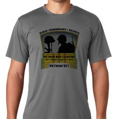 Vietnam War Ceasefire - 44th Tribute SS T-Shirt. The Vietnam War Ceasefire - 44th Tribute design was created in the U.S.A. to thank and honor Vietnam Veterans from all of the Armed Forces, and to recognize their sacrifices made. 2,709,918 Americans served in Vietnam and everyone was touched in some way by the war. 58,479 Americans gave their lives in service of their country during the war.