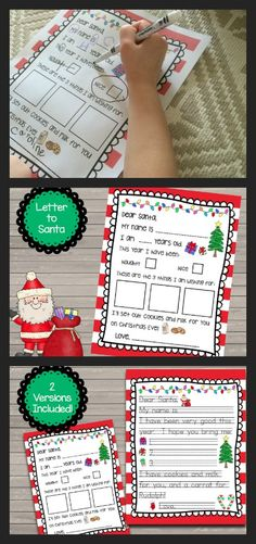 FREE Letter to Santa templates. Two templates included - one where they draw what they are wishing for and one where they write!