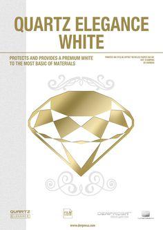 QUARTZ Elegance White: this film is capable of converting a medium-low quality paper into a HIGH QUALITY PAPER http://www.derprosa.com/puntos/quartz-elegance-white/