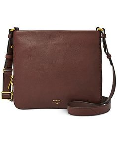 Fossil Preston Leather Crossbody - Fossil - Handbags & Accessories - Macy's