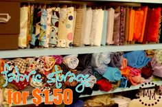 Scrap fabric storage - need to do this