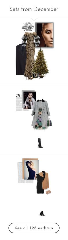 """Sets from December"" by bliznec-anna ❤ liked on Polyvore featuring STELLA McCARTNEY, Marchesa, Santa's Workshop, Dolce&Gabbana, Jimmy Choo, L'Objet, Cricut, Whiteley, Donna Karan and Topshop"