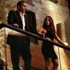 """Person of Interest"" Jim Caviezel & Sarah Shahi"