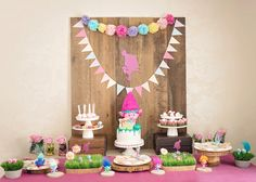 Dessert table from a Trolls Inspired Birthday Party on Kara's Party Ideas | KarasPartyIdeas.com (8)