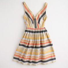 J Crew Dress aka Simplicity 2177, Triangle-Insert Border Print Dress