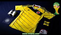 Colombia home kit, 2014 World Cup