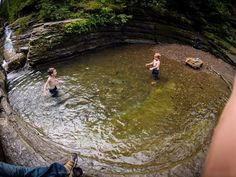 Devil's Bathtub in Spearfish Canyon is an amazing hike with a rewarding pool to cool off in!
