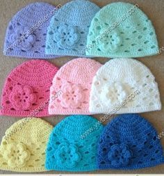Free Crochet Baby Patterns - Easy Crochet Patterns for Babies Bonnet Crochet, Crochet Beanie, Knit Or Crochet, Crochet For Kids, Crochet Crafts, Yarn Crafts, Crochet Projects, Crocheted Hats, How To Crochet For Beginners