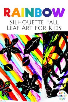 Looking for autumn leaf art for kids to make at home or school? These rainbow silhouette fall leaf art projects for kids are fun + colorful + easy for children to make. Get step by step… More