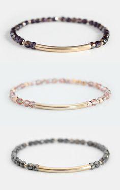 Beaded Bar Bracelets  | junghwa on Etsy