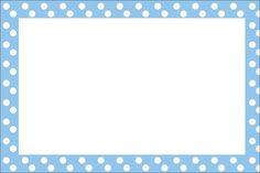 Poá Azul e Branco – Kit Completo com molduras para convites, rótulos para guloseimas, lembrancinhas e imagens!  Fazendo a Nossa Festa