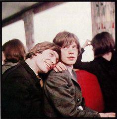 Charlie Watts and Mick Jagger