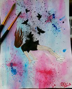 #девушка #грусть #внутреннее состояние #рисунок
