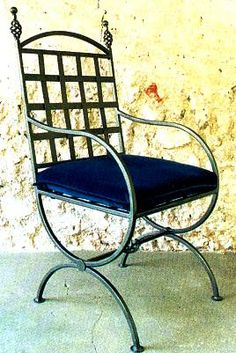 .wrought iron chair