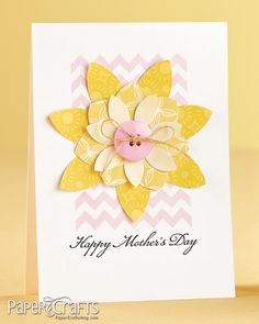 Chevron Mother's Day card by Cristina Kowalczyk on the Moxie Fab World tombow Dual Brush pens would be perfect for the Chevrons on this Mothers day card!  https://tombowusa.com/craft/detail/52135