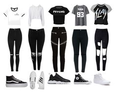 """""""Squad Outfits"""" by ms-swag1738 on Polyvore featuring Monrow, Disturbia, Boohoo, Topshop, WithChic, Givenchy, adidas, Converse, Vans and NIKE"""