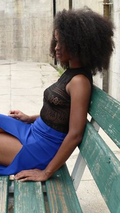 Look forward with hope. Not backwards with regret. 💙 Druzy Bodysuit // Topaz Midi-skirt.