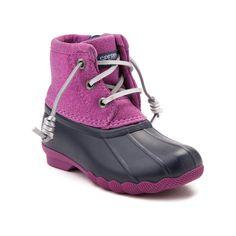 Toddler Sperry Top-Sider Saltwater Boot - Navy/Magenta - 99583517