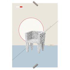 """Poster Cadeira """"Favela"""" - - Coleção Mercatto Casa e Apto 41"""