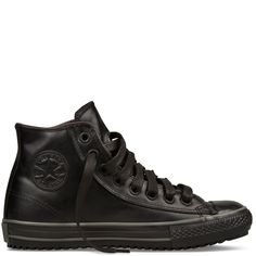 Newest Addition to The Closet...Converse Black Leather High Top Sneaker Boot
