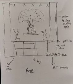This is a rough sketch of what we want. Would like to build on this Foyer Ideas, Sketch, Art, Sketch Drawing, Art Background, Drawings, Kunst, Sketching, Art Education