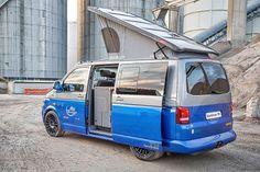 VW Spacecamper TH5: 550 PS im VW T5 Wohnmobil Vw T4 Syncro, Vw Minibus, Minivan Camping, T5 Camper, Campers, Vw Transporter Van, Volkswagen, Van Wrap, Van Life