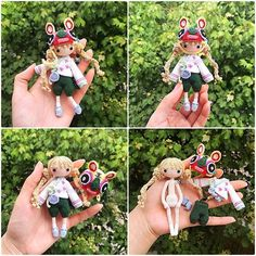 Kayla D 🐯 Tiger Hat Girl done by pattern buyer, 单眼皮的猴子婷 (China). Beautiful tiny doll! 🌿🌸