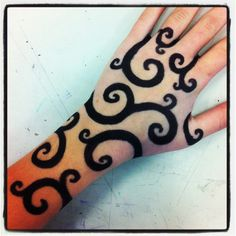 Sharpie tattoo, LOVE THE SWIRLS