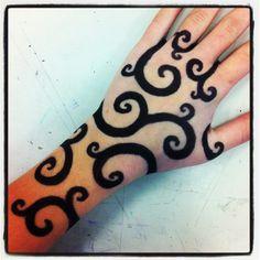 Sharpie tattoo, LOVE THE SWIRLS