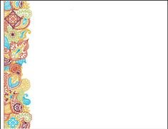 can print a cute card with a colorful paisley border Aztec City, Bengali New Year, Medical Wallpaper, Adobe Illustrator Cs6, Bollywood Party, Embroidery Kits, Cute Cards, Holidays And Events, Paisley