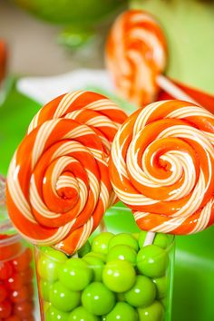 Citrus Orange/Green Candy/Dessert Buffet by Debbie Kennedy Events & Design Formerly SugarPlumD, via Flickr