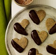 Chocolate-Dipped Espresso Shortbread Cookies