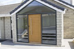 Qualified specified porch design plans directory Porch Doors Uk, Porch Uk, House Front Porch, Front Porch Design, Brick Porch, Bungalow Porch, Bungalow Exterior, Aluminium Front Door, Houses