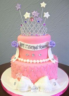 Princess with Tiara birthday cake