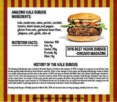 Amazing Kale Burger Evanston, IL Vegan Friendly Restaurants, Vegan Restaurants, Olive Oil Nutrition Facts, Best Veggie Burger, Bean Flour, Stuffed Mushrooms, Stuffed Peppers, Gluten Free Oats, Plant Based Diet