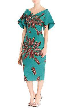 Mandrillo Printed Midi Dress by Stella Jean - Moda Operandi