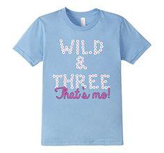 Kids Kids Girls 3rd Birthday T-Shirt, Wild & Three screen...
