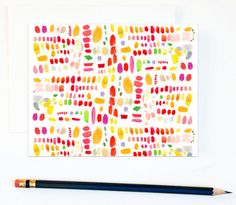 pretty notecard... inspires me to make a painting using the kids fingerprints.