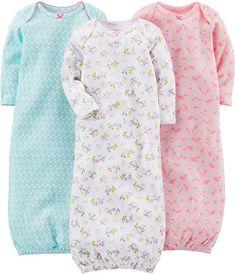 27bdaac034 Amazon.com  Simple Joys by Carter s Baby Girls  3-Pack Cotton Sleeper