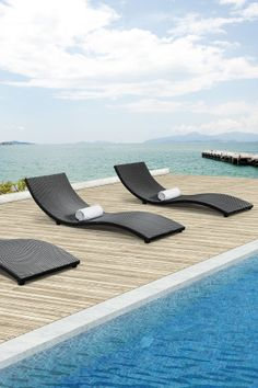 Sydney Espresso Lounge Chair » I want to be transported to one of these loungers, stat!