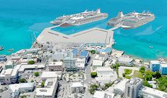 Conservation Council criticizes port plan - This illustration shows the proposed cruise berthing facility in George Town.