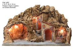 Presepe artigianale napoletano famosa Via San Gregorio Armeno. 4 Diy Waterfall, Christmas Pictures, Nativity, Diy And Crafts, Christmas Decorations, Painting, Terracotta, Amy, Mario